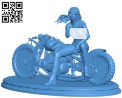 biker girl B004617 file stl free download 3D Model for CNC and 3d printer