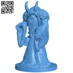 krampus man B004728 file stl free download 3D Model for CNC and 3d printer
