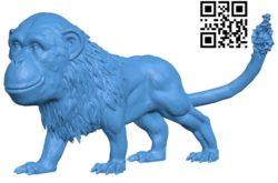 lion monkey B004659 file stl free download 3D Model for CNC and 3d printer