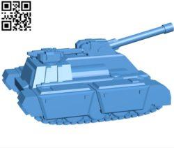 marksman tank  B004720 file stl free download 3D Model for CNC and 3d printer