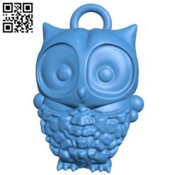owl keychain B004656 file stl free download 3D Model for CNC and 3d printer