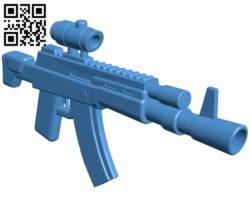 AK Toon Gun B005146 file stl free download 3D Model for CNC and 3d printer