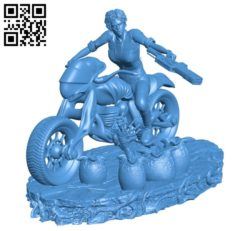 Alien with Biker B004881 file stl free download 3D Model for CNC and 3d printer