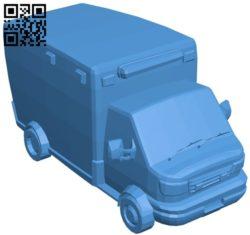 Ambulance car B005131 file stl free download 3D Model for CNC and 3d printer