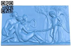 Angels and girls A003743 wood carving file stl for Artcam and Aspire free art 3d model download for CNC