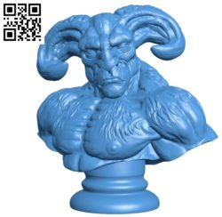 Beast man bust B004929 file stl free download 3D Model for CNC and 3d printer