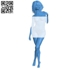 Beautiful woman B004876 file stl free download 3D Model for CNC and 3d printer