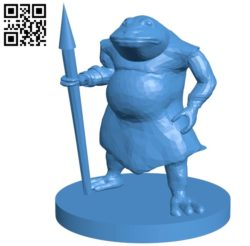 Bullywug toad B004951 file stl free download 3D Model for CNC and 3d printer