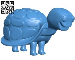 Cartoon Turtle B005114 file stl free download 3D Model for CNC and 3d printer