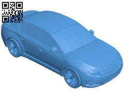Chevrolet Cruze Car B005123 file stl free download 3D Model for CNC and 3d printer