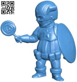 Chubby captain america man B005256 file stl free download 3D Model for CNC and 3d printer