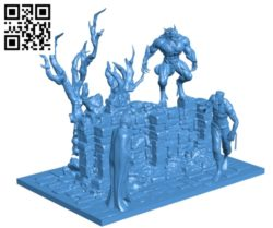 Complete diorama solid B004889 file stl free download 3D Model for CNC and 3d printer