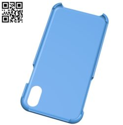 Cover iPhone X B004980 file stl free download 3D Model for CNC and 3d printer