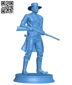 Cowboys with gun B004910 file stl free download 3D Model for CNC and 3d printer