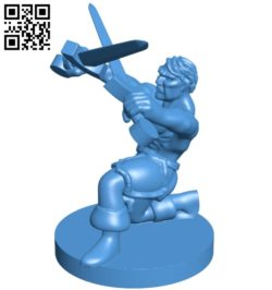 Mr Crossed Sword Trainer Fig B005189 file stl free download 3D Model for CNC and 3d printer