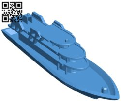 Cruise ship B004970 file stl free download 3D Model for CNC and 3d printer