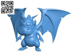 Cute dragon B004834 file stl free download 3D Model for CNC and 3d printer