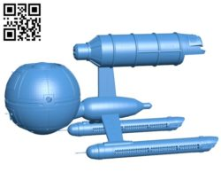 Daedalus Class Ship B005069 file stl free download 3D Model for CNC and 3d printer