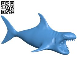 Dangerous shark Fish B005038 file stl free download 3D Model for CNC and 3d printer