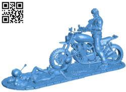 Daryl Dixon Diorama B004883 file stl free download 3D Model for CNC and 3d printer