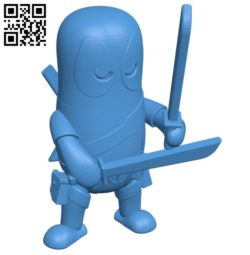 Deadpool two swords B005219 file stl free download 3D Model for CNC and 3d printer