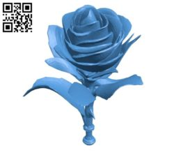 Decor rose B004841 file stl free download 3D Model for CNC and 3d printer