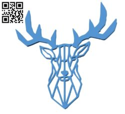 Deer 2D B004842 file stl free download 3D Model for CNC and 3d printer