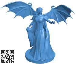 Demon Queen B004844 file stl free download 3D Model for CNC and 3d printer