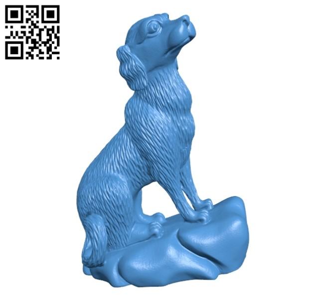 Dog figurine B004848 file stl free download 3D Model for CNC and 3d printer