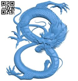 Dragon A003720 wood carving file stl for Artcam and Aspire free art 3d model download for CNC