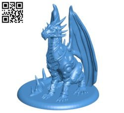 Dragon in armor B004849 file stl free download 3D Model for CNC and 3d printer