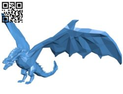 Dragon low poly B005039 file stl free download 3D Model for CNC and 3d printer