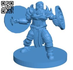 Dual shields warrior man B005168 file stl free download 3D Model for CNC and 3d printer