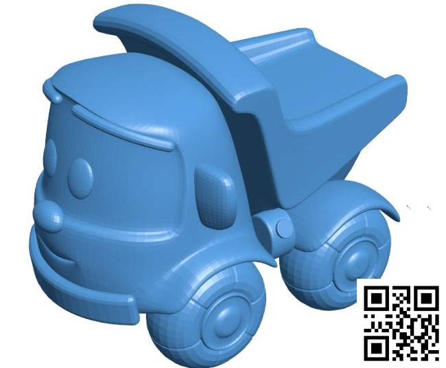 Dump truck B004853 file stl free download 3D Model for CNC and 3d printer