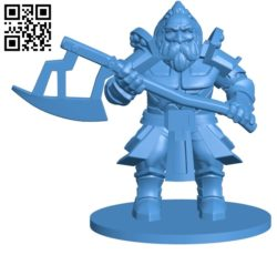Dwarf Mr Warrior B005059 file stl free download 3D Model for CNC and 3d printer