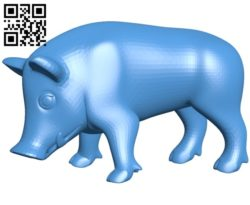 Eating Boar pig B005049 file stl free download 3D Model for CNC and 3d printer