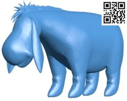 Eeyore B004856 file stl free download 3D Model for CNC and 3d printer