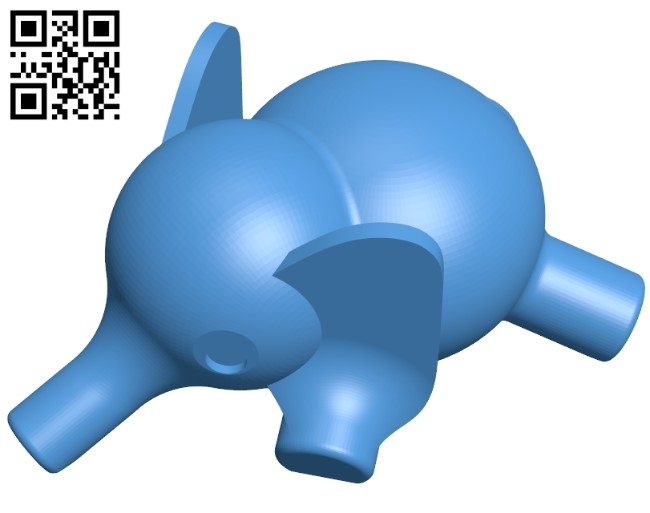 Elephant lazy B005194 file stl free download 3D Model for CNC and 3d printer