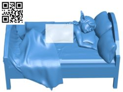 Elf with the bed B004873 file stl free download 3D Model for CNC and 3d printer