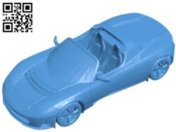 Elons Roadster car B004860 file stl free download 3D Model for CNC and 3d printer