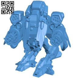 Epic mech robot B005190 file stl free download 3D Model for CNC and 3d printer