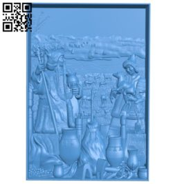 Fair on the prairie A003722 wood carving file stl for Artcam and Aspire free art 3d model download for CNC
