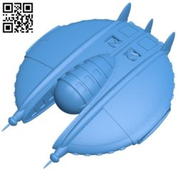 Fallout 3 UFO ship B005053 file stl free download 3D Model for CNC and 3d printer