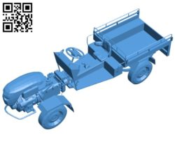 Farm truck B005191 file stl free download 3D Model for CNC and 3d printer