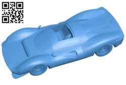 Ferrari 330 P3 car B004864 file stl free download 3D Model for CNC and 3d printer