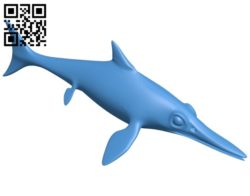 Fish ichthyosaur B005011 file stl free download 3D Model for CNC and 3d printer