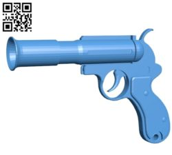Flare Gun B005244 file stl free download 3D Model for CNC and 3d printer