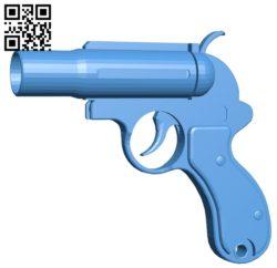 Flare Gun Short B005245 file stl free download 3D Model for CNC and 3d printer