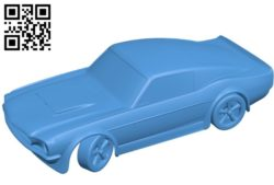 Ford Mustang GT500 car B004867 car file stl free download 3D Model for CNC and 3d printer