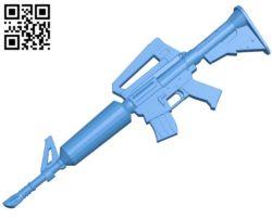 Fortnite AR Gun B005013 file stl free download 3D Model for CNC and 3d printer